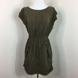 Akira Chicago Textured Pocket Casual Dress Size S